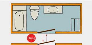 cách bố trí nhà bếp và nhà vệ sinh
