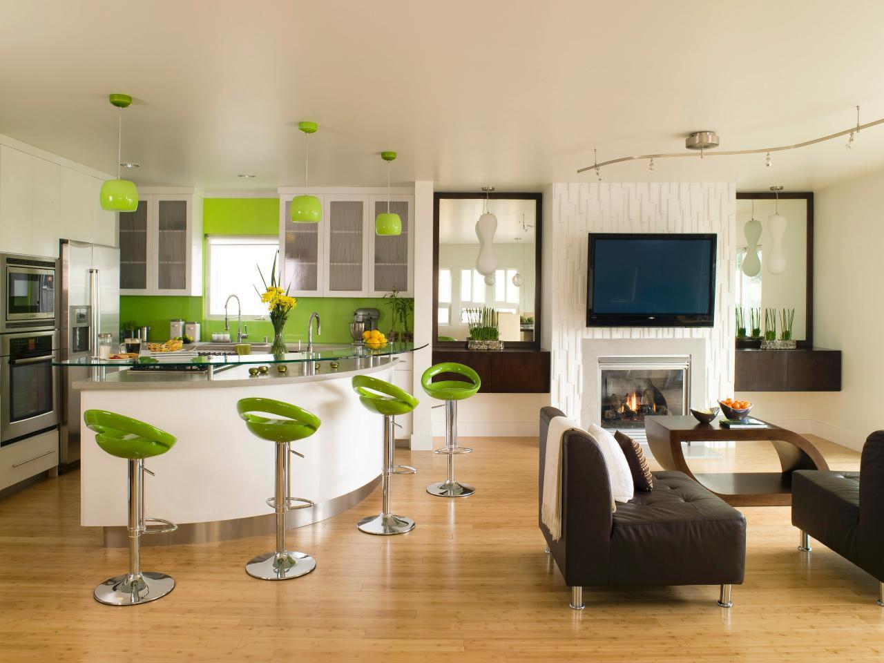 phòng khách kết hợp bếp 2