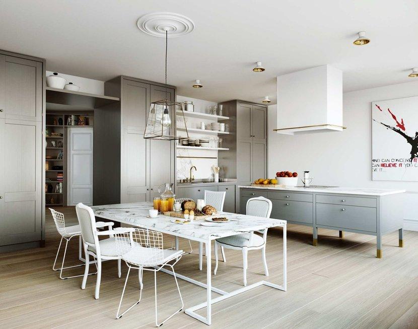 phòng khách kết hợp bếp 3