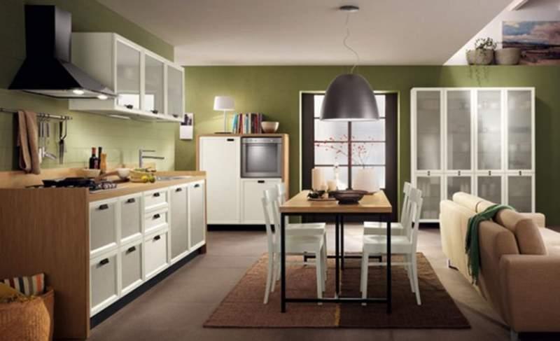 phòng khách kết hợp nhà bếp 2