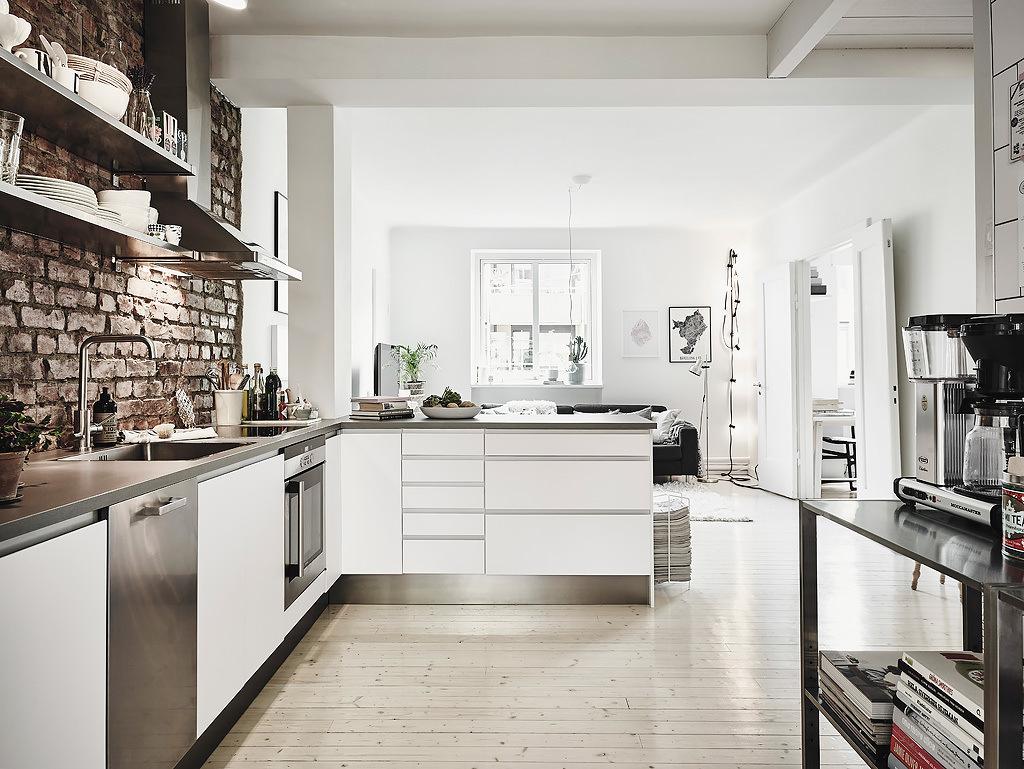 phòng khách kết hợp nhà bếp 3