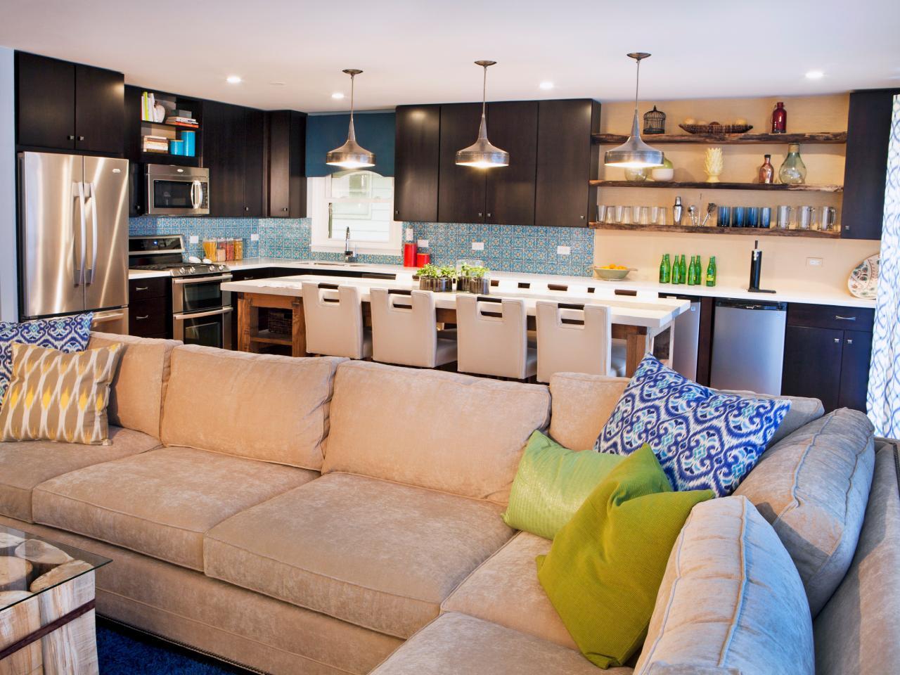 phòng khách kết hợp nhà bếp 4