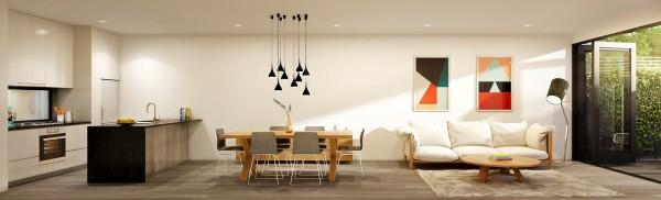 phòng khách kết hợp nhà bếp1