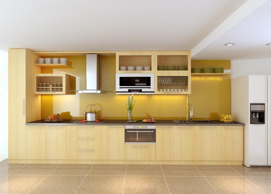 tủ bếp cho căn hộ chung cư nhỏ 2