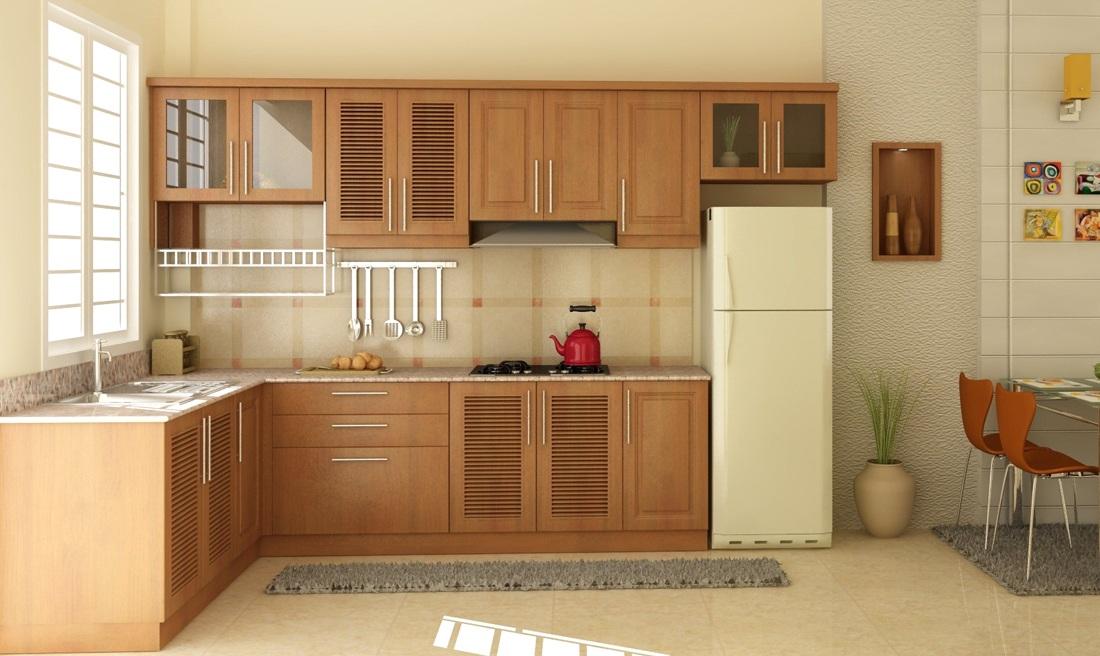 tủ bếp cho căn hộ chung cư nhỏ - chữ L