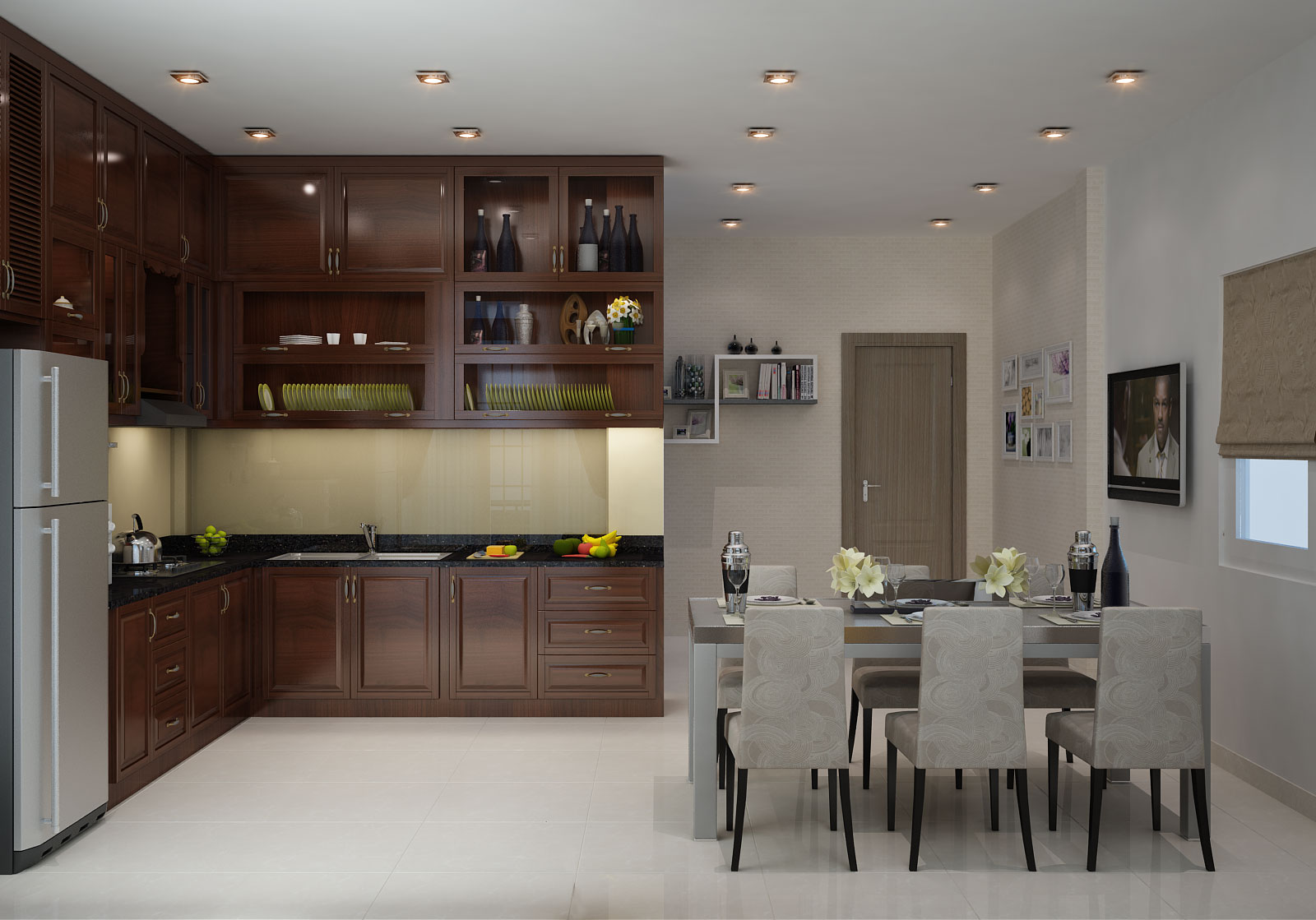 bếp đẹp cho chung cư