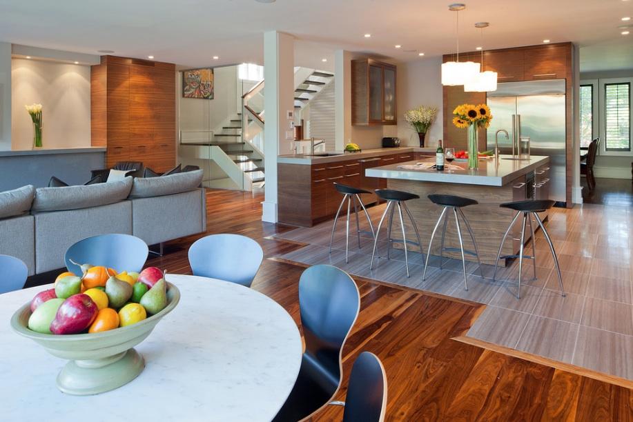 thiết kế phòng khách và bếp chung 6