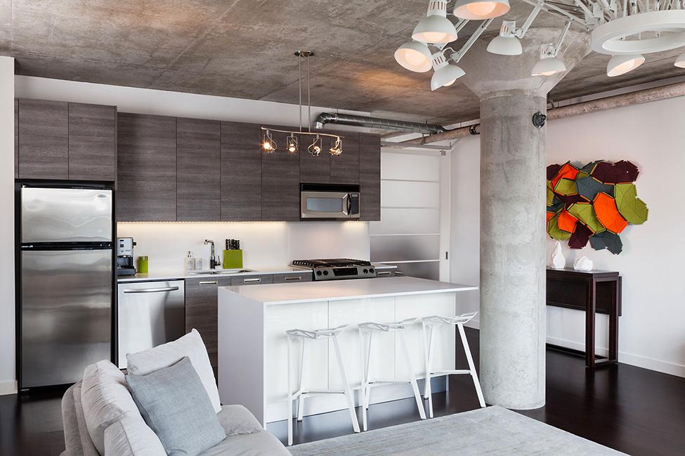 thiết kế phòng khách và bếp chung1