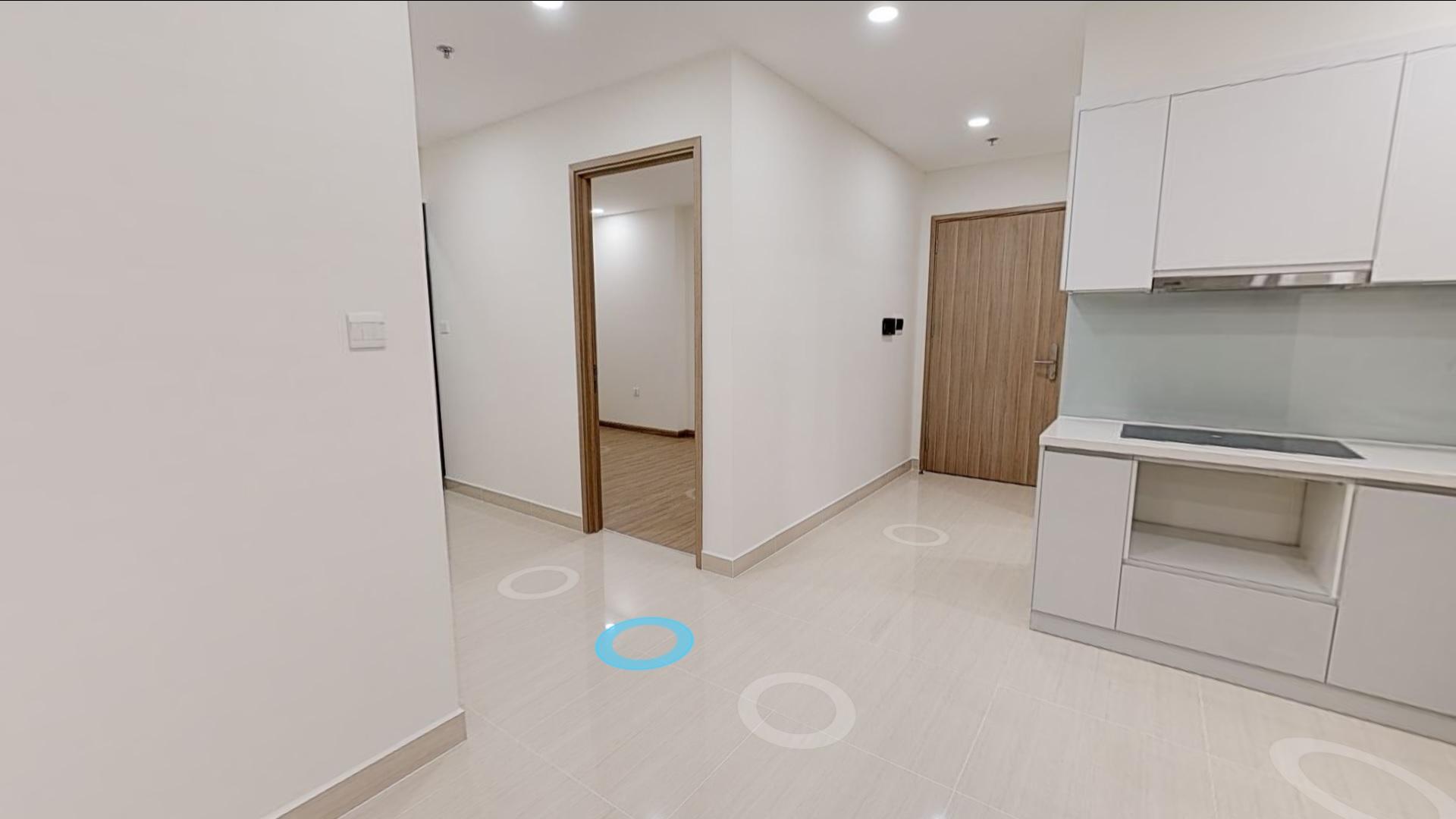 Mặt bằng căn hộ 2 phòng ngủ chung cư VinCity Gia Lâm
