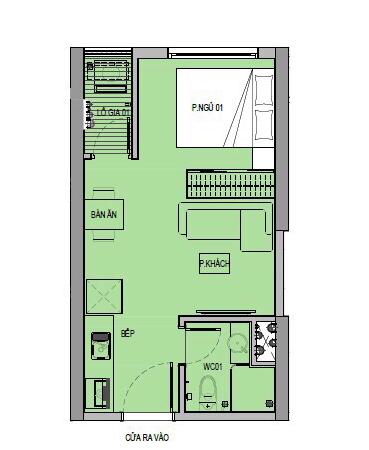 Mặt bằng căn hộ studio chung cư VinCity